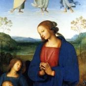 Изабелла Арагонская, герцогиня Милана, изображена как Дева с младенцем и четырьмя ангелами