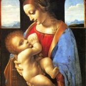 Изабелла Арагонская, герцогиня Милана, и ее сын Франческо да Метцо, изображена как Дева с младенцем