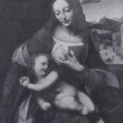 Изабелла Арагонская, герцогиня Милана, как Дева Мария с младенцем