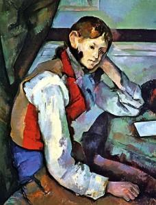 Поль Сезанн, «Мальчик в красном жилете», 1888-89