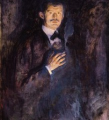 """Эдвард Мунк """"Автопортрет с сигарой"""", 1895 г."""