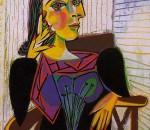 Пабло Пикассо «Портрет Доры Маар». Холст, масло. 1937. Музей Пикассо, Париж