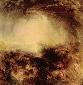 Уильям Тернер «Тень и Тьма. Вечер перед Всемирным потопом». Холст, масло. 1843. Галерея Тейт, Великобритания