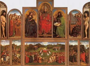 Ян ван Эйк. Створка из Гентского алтаря «Праведные судьи». Ок. 1390-1441. Собор святого Бавона, Гент