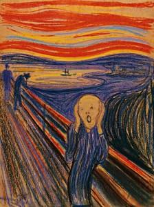 Эдвард Мунк «Крик». Картон, масло, темпера, пастель. 1893. Национальная галерея, Осло